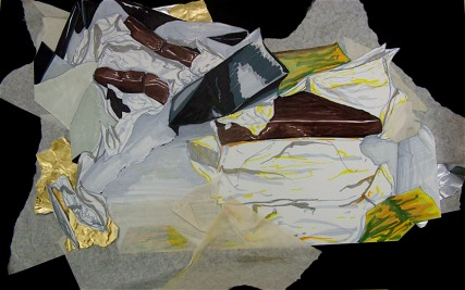 """Mixed media collage ~ 18"""" x ~ 24"""" 2008"""