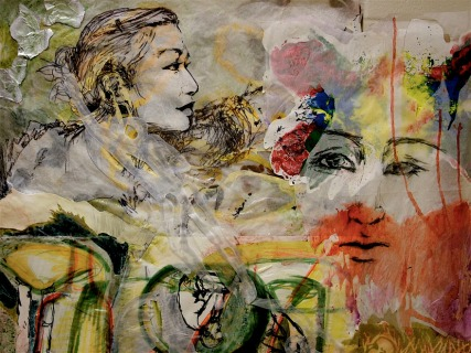 "Mixed media collage 60"" x 60"" 2008"